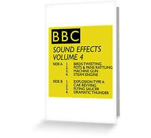 BBC Sound Effects Volume 4 Greeting Card
