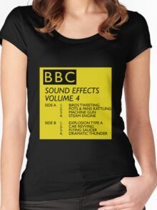 BBC Sound Effects Volume 4 Women's Fitted Scoop T-Shirt