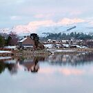 Llyn (Lake)Trawsfynydd Village, North Wales, UK, Europe by AnnDixon