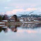 Llyn (Lake)Trawsfynydd Village, North Wales, UK, Europe by AnnDixon