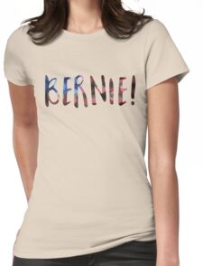 bernie sanders bokeh Womens Fitted T-Shirt