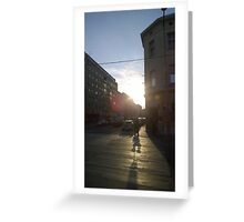 Austrian Sunset Greeting Card