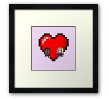 """Love in 8-bit"": Britta and Troy (Style B) Framed Print"