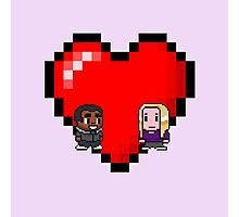 """""""Love in 8-bit"""": Britta and Troy (Style B) Photographic Print"""