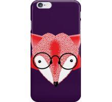 Bespectacled Cartoon Fox iPhone Case/Skin