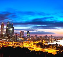 Perth City at Sunrise by jordancantelo
