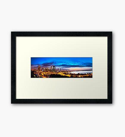 Perth City at Sunrise Framed Print