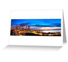 Perth City at Sunrise Greeting Card