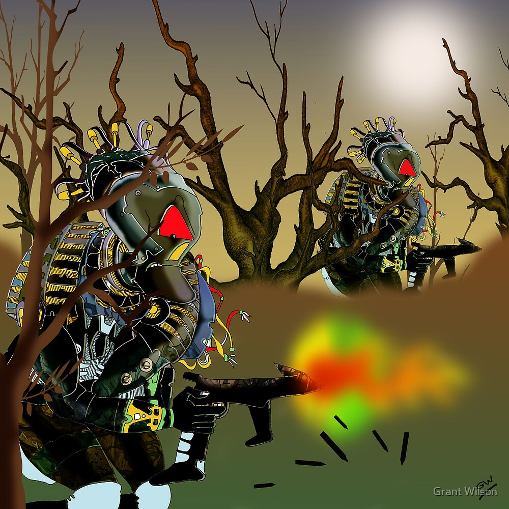 Robot Warriors in the Slime Jungles.. by Grant Wilson