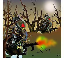 Robot Warriors in the Slime Jungles.. Photographic Print