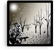 Robot Warrior in Snow.. Canvas Print