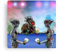 Robot Warrior Bar Scene.. Canvas Print