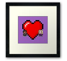"""Love in 8-bit"": Britta and Troy (Style C) Framed Print"