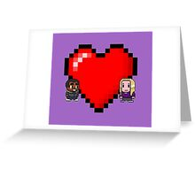 """Love in 8-bit"": Britta and Troy (Style C) Greeting Card"