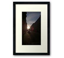 Vienna Sunset Framed Print
