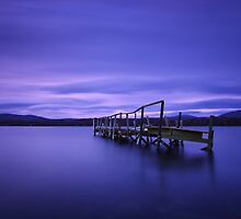 Derelict jetty - Carnarvon Bay Tasmania by Mark Shean