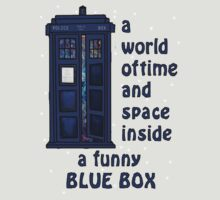 A world of time and space inside a funny blue box... T-Shirt