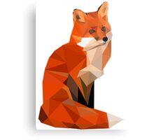 Low poly fox Metal Print