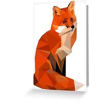 Low poly fox Greeting Card