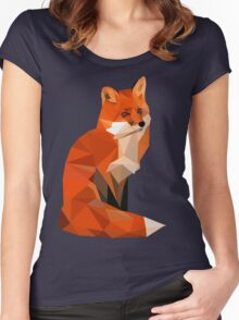 Low poly fox Women's Fitted Scoop T-Shirt
