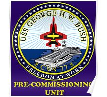 PCU George H.W. Bush Crest for Dark Colors Poster
