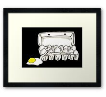 Spooky Ghostbusters Fried Eggs Box Inspired Pen and Ink Illustration by Jayne Kitsch Framed Print