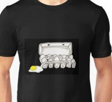 Spooky Ghostbusters Fried Eggs Box Inspired Pen and Ink Illustration by Jayne Kitsch Unisex T-Shirt