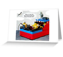 Cap'n Bob goes Fishing Greeting Card