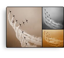 Red Arrows Collage Canvas Print