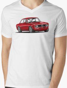 Alfa Romeo Gulia GTA Mens V-Neck T-Shirt