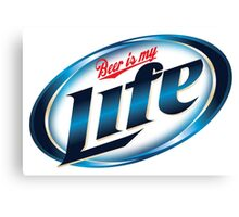 Beer is my Life - Parody Logo Canvas Print