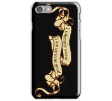 I Solemnly Swear I Am Up to No Good Banner iPhone Case/Skin