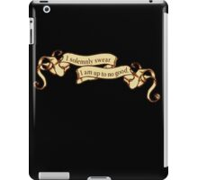 I Solemnly Swear I Am Up to No Good Banner iPad Case/Skin