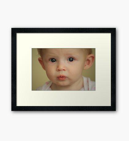 "Adelyn Says ""Oooooo..."" Framed Print"