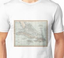 Vintage Map of The Caribbean (1893) Unisex T-Shirt