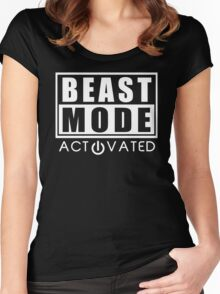 Beast Mode Gym Bodybuilding Sport Motivation Women's Fitted Scoop T-Shirt