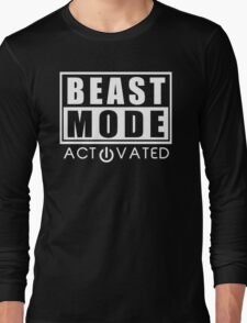 Beast Mode Gym Bodybuilding Sport Motivation Long Sleeve T-Shirt