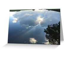 Water Reflection of the Sky Greeting Card