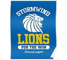 Lions For The Win!! Poster