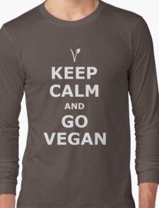 Keep Calm and Go Vegan Long Sleeve T-Shirt
