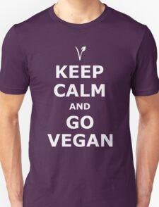 Keep Calm and Go Vegan Unisex T-Shirt