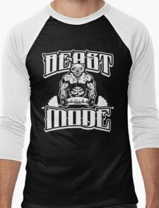 Beast Mode Gym Fitness Sports Men's Baseball ¾ T-Shirt