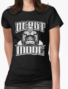 Beast Mode Gym Fitness Sports Womens Fitted T-Shirt