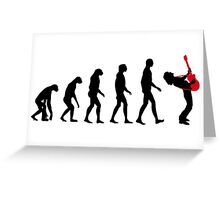 Rock Evolution Greeting Card