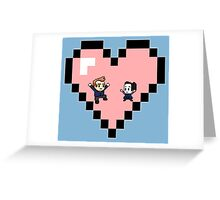 """Love in 8-bit"": Jeff and Annie (Style D) Greeting Card"
