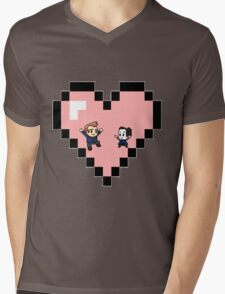 """""""Love in 8-bit"""": Jeff and Annie (Style D) Mens V-Neck T-Shirt"""
