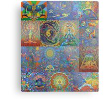 Acrylic Yoga Paintings by Karmym Metal Print