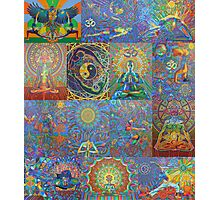 Acrylic Yoga Paintings by Karmym Photographic Print