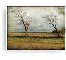 Faith walks with you... Canvas Print