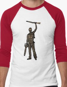 Army Of Darkness Ash Quotes Men's Baseball ¾ T-Shirt